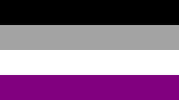 vlag aseksualiteit